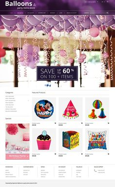 Balloons & Party Stuff OpenCart Template http://www.templatemonster.com/opencart-templates/51728.html?utm_source=pinterest&utm_medium=timeline&utm_campaign=51728