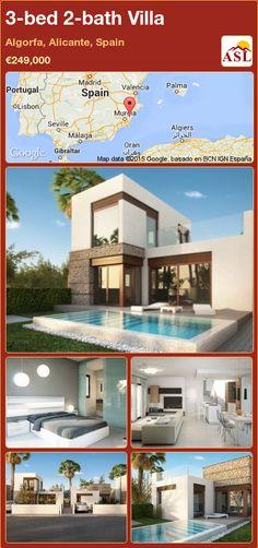 3-bed 2-bath Villa in Algorfa, Alicante, Spain ►€249,000 #PropertyForSaleInSpain