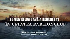Liderii lumii religioase se îndepărtează de calea Domnului și urmează tendințele lumești; de asemenea colaborează cu puterea guvernatoare în sfidarea și condamnarea sălbatică a Fulgerului de la Răsărit, și deja au început să meargă pe calea ce se împotrivește lui Dumnezeu. Lumea religioasă a degenerat în Cetatea Babilonului.  #Filmul_Evangheliei #Evanghelie #Dumnezeu #Împărăţia #creștinism #Iisus #biserică #salvare Films Chrétiens, Babylon The Great, World Cities, My Lord, Taj Mahal, God, Place, Film Cristiani, Bible