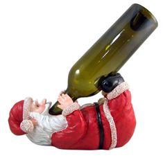 Santa's Spirits Holiday Wine Bottle Holder Wine Bottle Holders, Cool Gadgets, Christmas Decorations, Santa, Spirit, Holiday, Vacations, Christmas Decor, Holidays