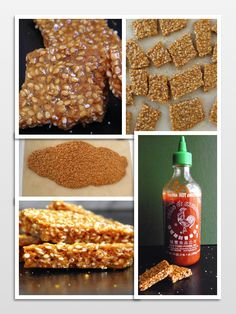 Sesame Sriracha Brittle! A perfect combination of sweet, nutty, crunchy and spicy!  From Taste Love & Nourish