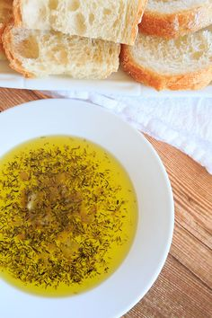 Roasted Garlic & Herb Dipping Oil - Perfect with a loaf of crusty Italian bread! | browneyedbaker.com