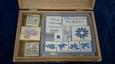 Stamping Up 2000 Print Blocks Rubber Stamp Lot by AntiquesandVaria