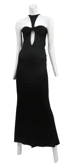 f772f770e RESURRECTION VINTAGE. Online PurchaseTom Ford. TOM FORD BLACK JERSEY CUT  OUT GOWN