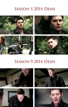 [gifset] Contrast Dean 5x04 The End and 9x13 First Born... anyone see any similarities? I'm being to worry about Dean getting to close to the edge!  #Dean #SPN