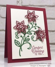Flourishing Phrases, Flourish Thinlits, Stampin' Up!, Brian King. Cherry Cobbler, Garden Green, Very Vanilla.