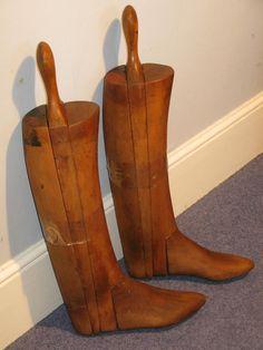 Vintage Equestrian Hunting Long Riding Boot by TrafalgarAntiques
