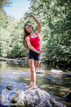 Senior Ballet pictures in the Little Pigeon River at Elkmont Campground in the Smokies by Amanda May Photos