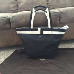 New! Kate Spade Tote. Leather detailing with nylon body. Comes with dustbag kate spade Bags Totes