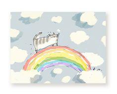 Rainbow Bridge Cat Card Cat Loss With Sympathy by jamieshelman    #rainbowbridge