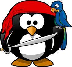 Pinguim, Pirata, Tux, Animal