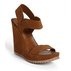 Pedro Garcia 'Virgie' Wedge Sandal Brown 39 EU and other apparel, accessories and trends. Browse and shop 1 related looks.