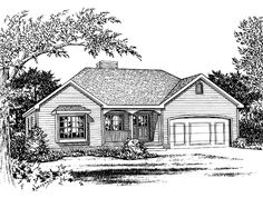 Eplans Cottage House Plan - Three Bedroom Cottage - 1406 Square Feet and 3 Bedrooms from Eplans - House Plan Code HWEPL58004