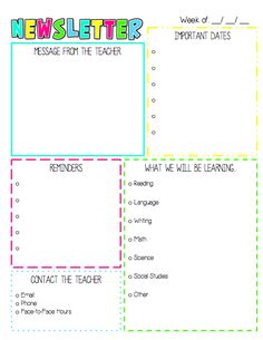 FREE Monthly Calendars And Newsletter Templates FINALLY Just What - August newsletter template