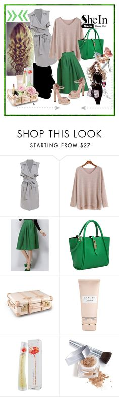 """Green Gray"" by merima-musanovic ❤ liked on Polyvore featuring Globe-Trotter, Carven, Kenzo, Lauren Conrad, Christian Dior and Gucci"