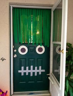 Halloween party ideas: Monster Doors - Green-eyed monster! - goodtoknow