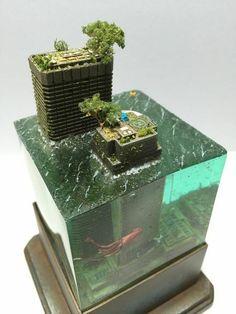 Landscape. ruined city. flood. Global warming?