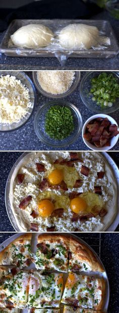 Breakfast Pizza with Scrambled Eggs Instead!