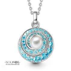 Soufeel Whirlpool Pearl Necklace 925 Sterling Silver Compatible All Brands Basic Bracelet. For Every Memorable Day