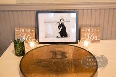 Not your average guest book! How cute is this? Photograph by Artisan Events
