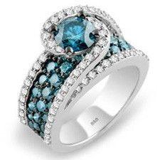 Sandra Biachi Caribbean Blue Diamond Ring LP6200BD