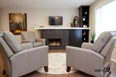 Fireplace Designed by Studio Interior Design Consultants Living Spaces, Living Room, Fireplace Design, Design Consultant, Couch, Contemporary, Interior Design, Studio, Fireplaces