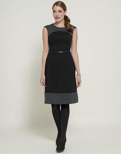 Ponte Belted Dress