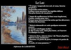 La Pensée Du Jour: Le Lac (Alphonse de Lamartine)