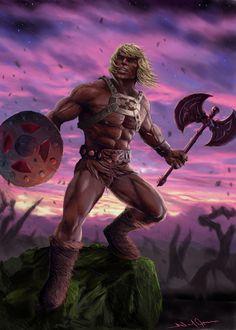 ArtStation - He-Man Defends Castle GreySkull, Neil Jepson Minions, He Man Thundercats, Marvel Comics Superheroes, Sword And Sorcery, Classic Cartoons, Manga Characters, Geek Culture, Amazing Art, Sci Fi