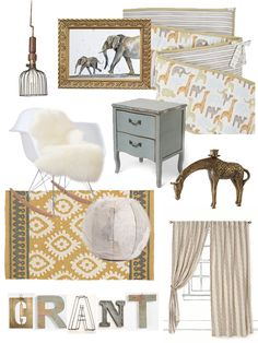 """Vintage Safari"" Nursery Scheme - Erika Brechtel"