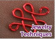 WigJig Free Tutorials -  Techniques and skills used when making jewelry using common jewelry tools, beads, jewelry wire, jewelry supplies and gemstones.