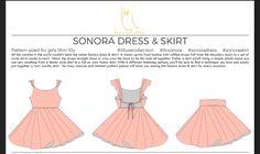 Sonora dress & skirt de Lil Luxe Collection de la taille 18 mois à 10 ans