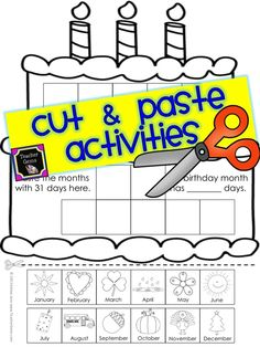 Make learning fun and hands-on with these cut and paste activities! Not only will your students be learning but they will also be practicing those all important fine-motor skills at the same time. #TpT #TeacherGems