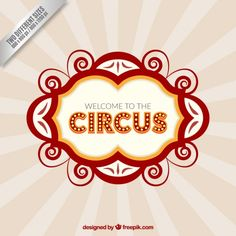Welcome to circus background Free Vector
