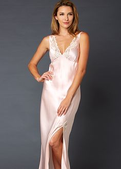 a5e268c650 Perfect Indulgence Silk Gown Lace Nightgown