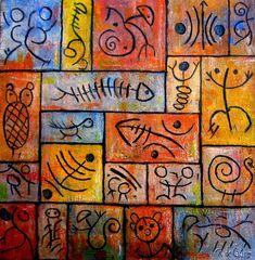 blog venta de cuadros originales económicos oferta de cuadros originales baratos comprar cuadros a buen precio Arte Tribal, Tribal Art, Stencil Patterns, Mosaic Patterns, Surface Art, School Murals, Rustic Art, Alcohol Ink Painting, Mural Wall Art