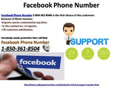 How to Get Help with Facebook Problems through #FacebookPhoneNumber 1-850-361-8504?