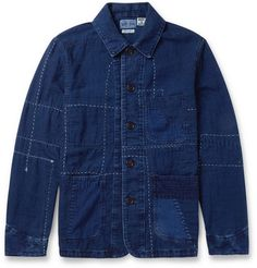 Blue Blue JapanPatchwork Cotton Lightweight Jacket