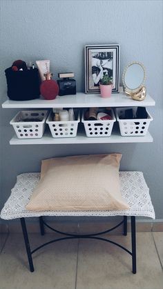 Diy muebles tocador ideas for 2019 Girls Bedroom, Bedroom Decor, New Room, Room Organization, Home Projects, Diy Furniture, Diy Home Decor, Decoration, Interior Design