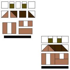 pattern for house quilt blocks