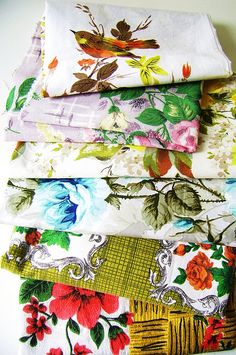 Wish these were in my fabric cupboards by silly old suitcase via Flickr.