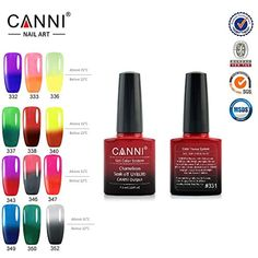 CANNI 7.3 ml UV Color Changing Gel Nail Polish, Set of 12 ** Click image for more details. (This is an affiliate link) #FootHandNailCare
