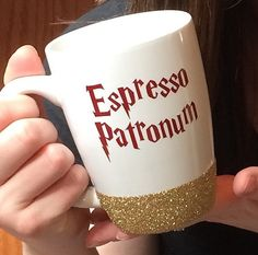 Espresso Patronum - Glittered Harry Potter Themed Coffee Mug