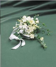 Bridal Bible Spray Bouquet type from Enrights Florist of Rochester NY