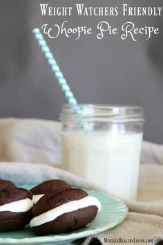 There's nothing like a light chocolately treat to satisfy your sweet tooth. This Weight Watchers friendly Whoopie Pie recipe pairs well with an ice cold glass of milk. Enjoy!