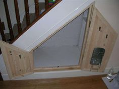under stairs storage perfect for a cat litter box idea