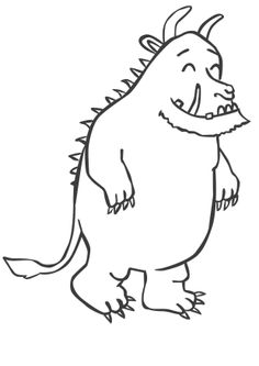 It is a graphic of Hilaire Gruffalo Coloring Pages