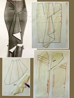 37 Ideas for diy fashion clothing dress costura Skirt Patterns Sewing, Clothing Patterns, Pattern Sewing, Skirt Sewing, Sewing Clothes, Diy Clothes, Fashion Sewing, Diy Fashion, Moda Fashion