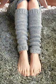easy to make crochet leg warmer