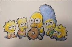 The Simpsons chibi mode. I have not really seen a chibi version of them so I made one. I do not own the simpsons only this fanart. The Simpsons Chibi Version Simpsons Drawings, Simpsons Art, Futurama, Best Cartoon Shows, Trippy Painting, Tattoo Stencils, Homer Simpson, Cool Artwork, Bowser